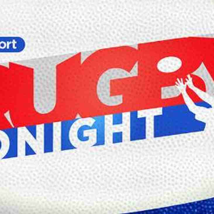 Rugby Tonight – Invite to watch it live!