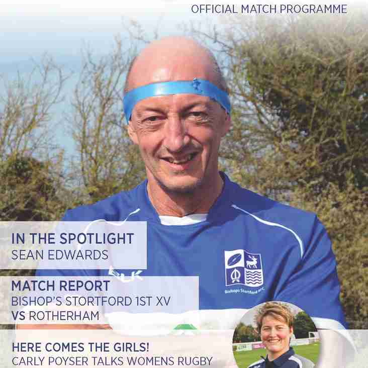 BSRFC Match day programmes - 2018/19 season