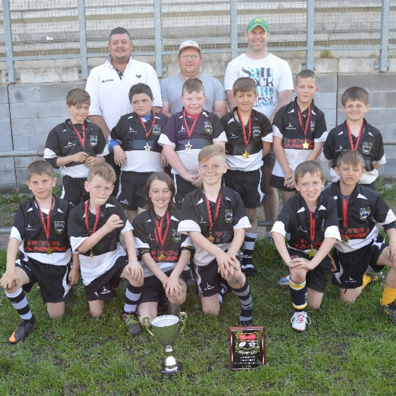 Under 10's runners up in the Rhymney tournament