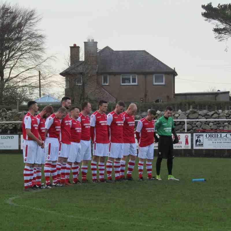 Llanrig United 0-2 Mynydd Llandygai (22.12.2018)