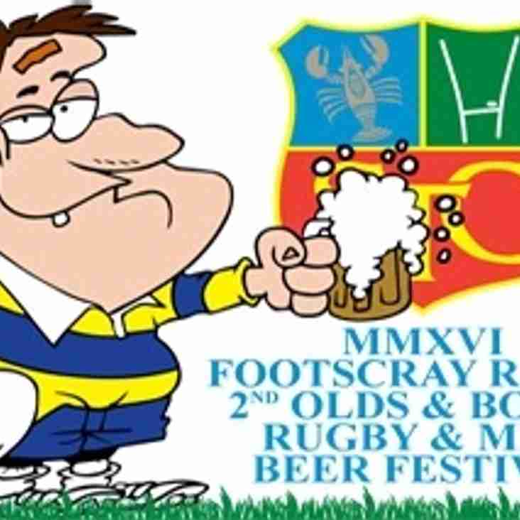 Olds & Bolds Rugby & Mini Beer Festival 2016