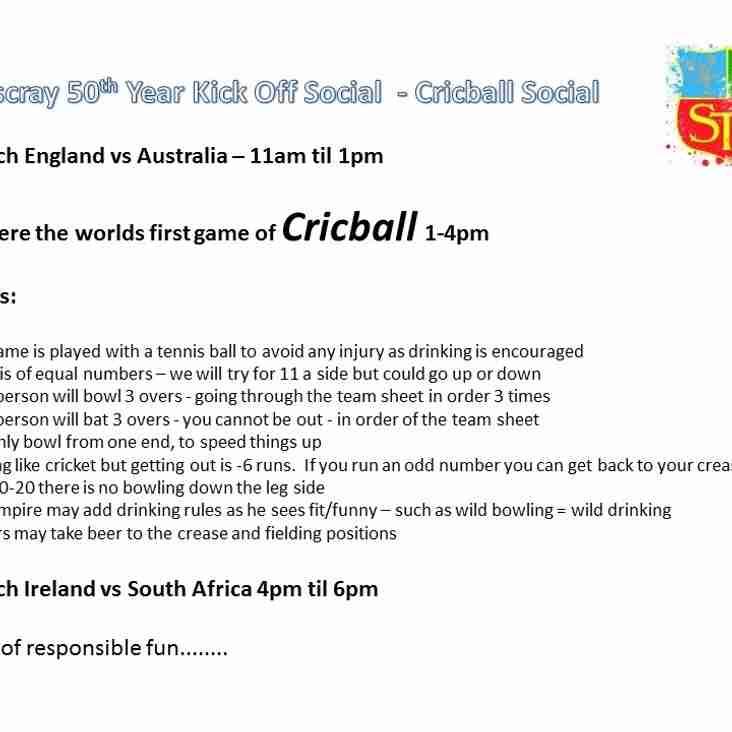 Dicky Bunton Presents - CricBall 2016 - Saturday 18th June