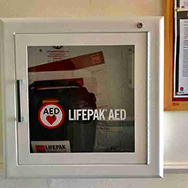 NEW DEFIBRILLATOR INSTALLED AT THE CLUB