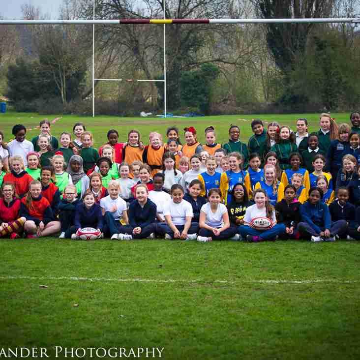 Dartfordians Girls Primary Schools Fun Tag Rugby Festival