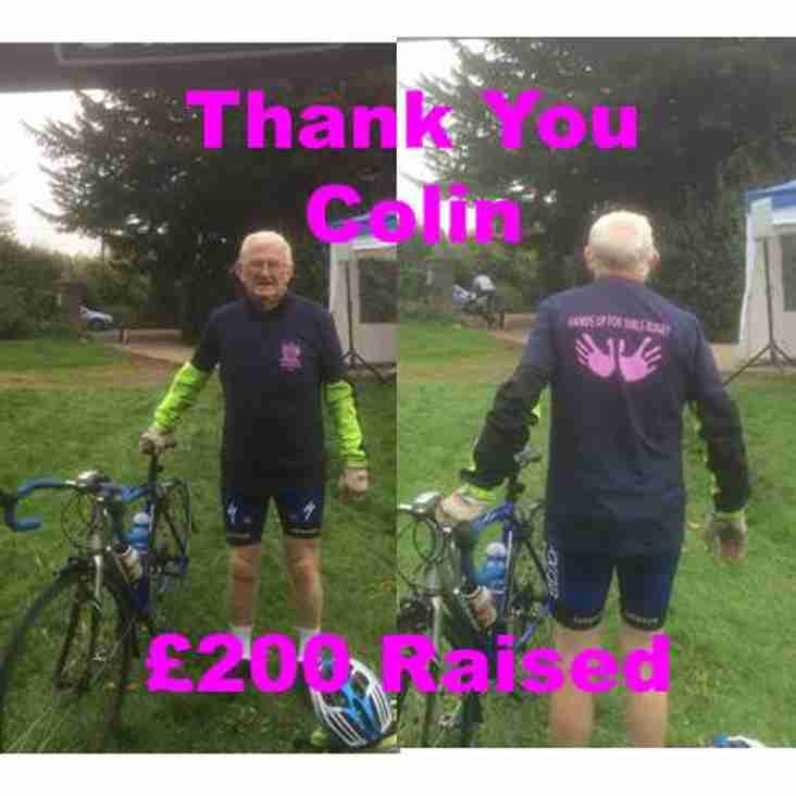 Colin Raises £200 to support Dartfordians Girls Rugby Team.