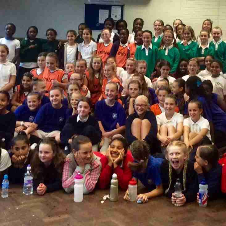 100 Girls attend Schools Fun Festival at Dartfordians