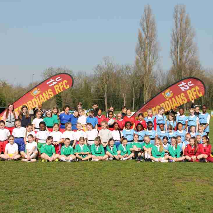 Dartfordians RFC host another successfully Yrs 5 & 6 Girls TAG Rugby Festival