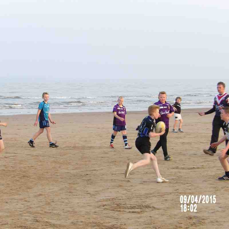 Under 12's Seaside training