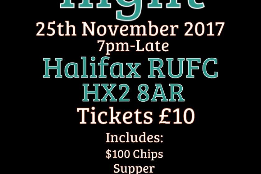 Casino Night returns to Halifax RUFC