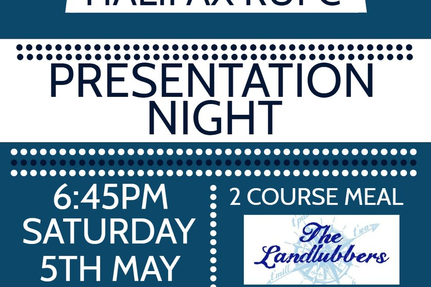 Presentation Night Ticket Now Available at the Club or Online