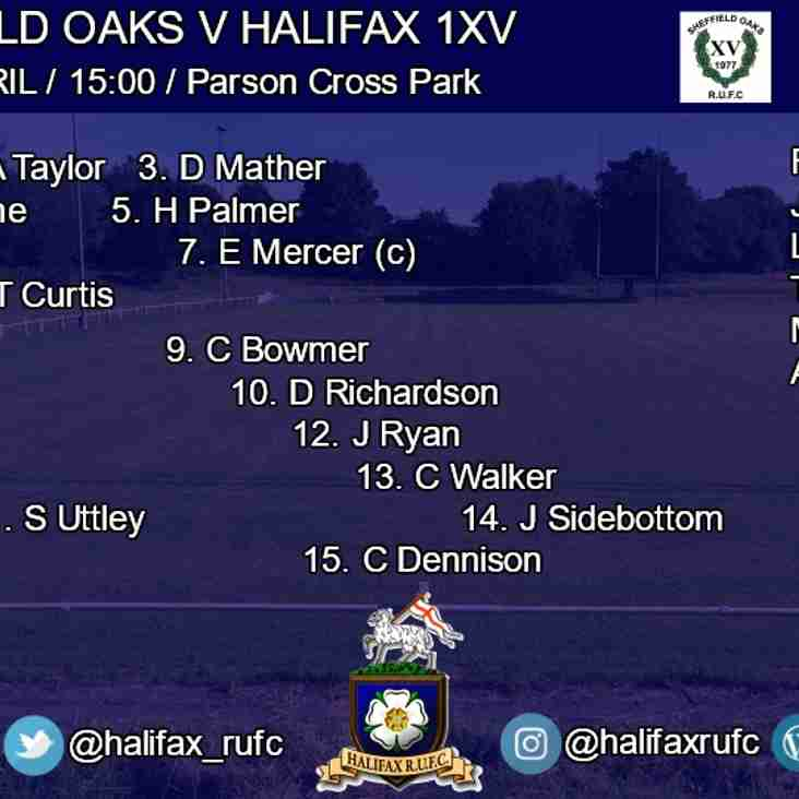1xv v Sheffield Oaks 21/4/18