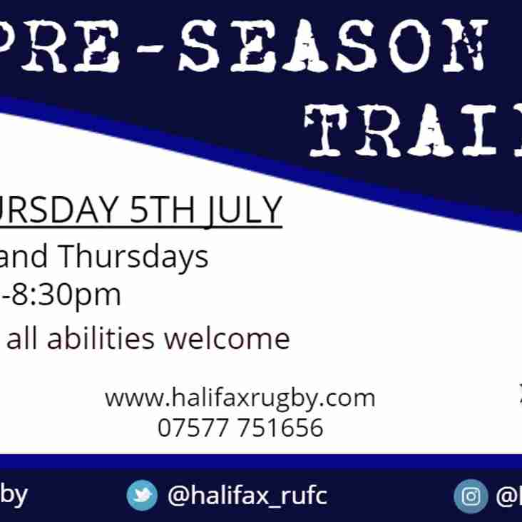 Pre-Season Training | Halifax RUFC