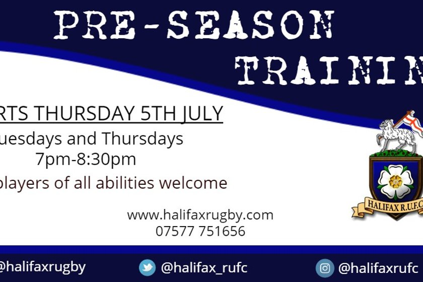 Pre-Season Training | Halifax RUFC