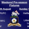 Weekend fixtures 18/8/18