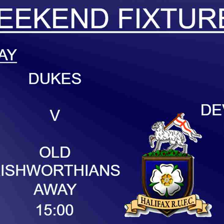 Halifax RUFC weekend preview 6/10/18 (1xv, Dukes, Ladies)