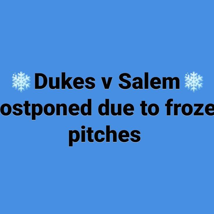 Halifax Dukes v Bradford Salem Postponed<