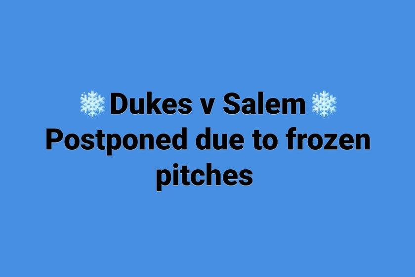 Halifax Dukes v Bradford Salem Postponed