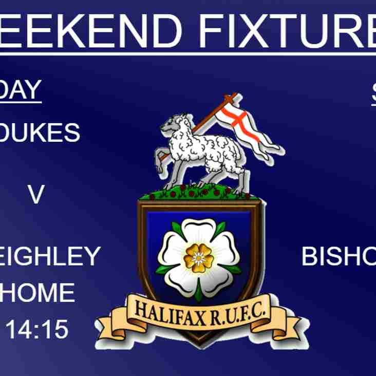Halifax RUFC weekend preview 12/1/2019 (1xv, Dukes & Ladies)