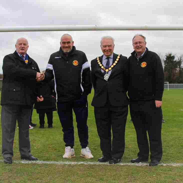 Witham Town FC celebrate openning of youth pitches after grant success