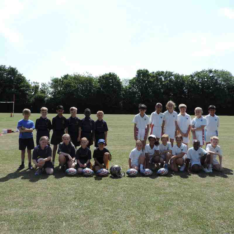 Primary school flag american football comp Saturday 11th July 2015