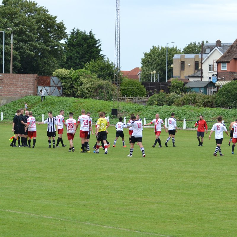 125th Anniversary match Harwich & Parkeston v Royal Antwerp Pioneers