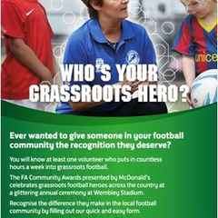 FA COMMUNITY AWARDS - NOMINATE YOUR GRASS ROOTS HERO