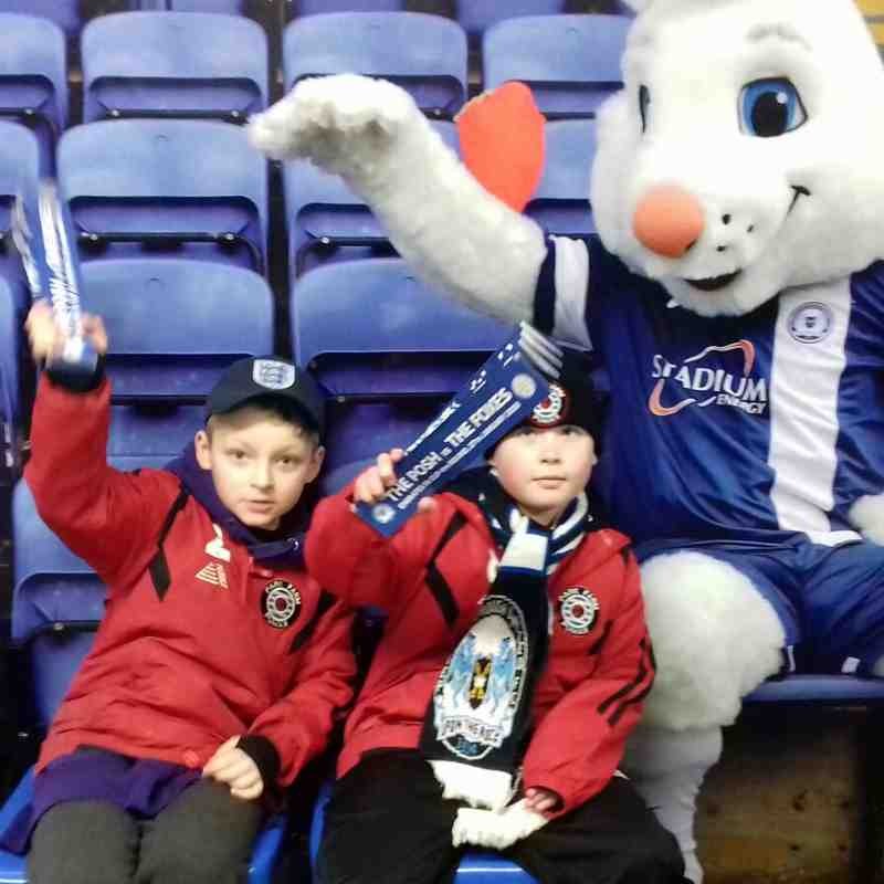 Pumas U8s at POSH v Leicester in the FA Cup