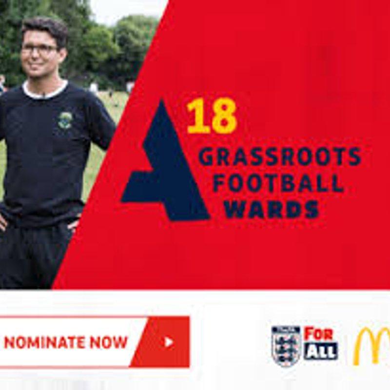 McDonalds Grassroots Football Awards 2018