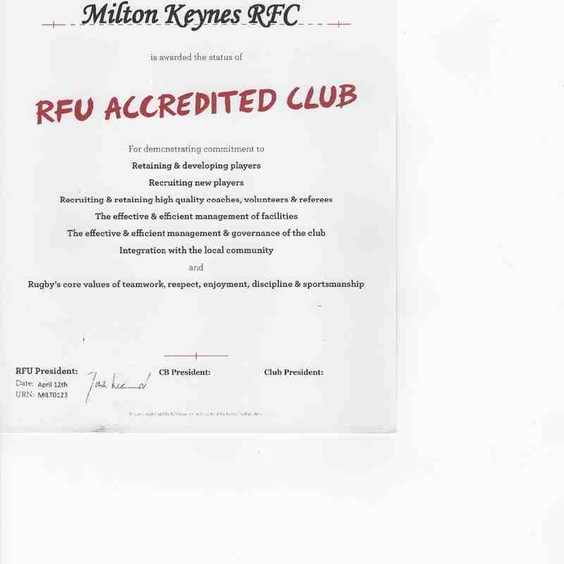 RFU accreditations