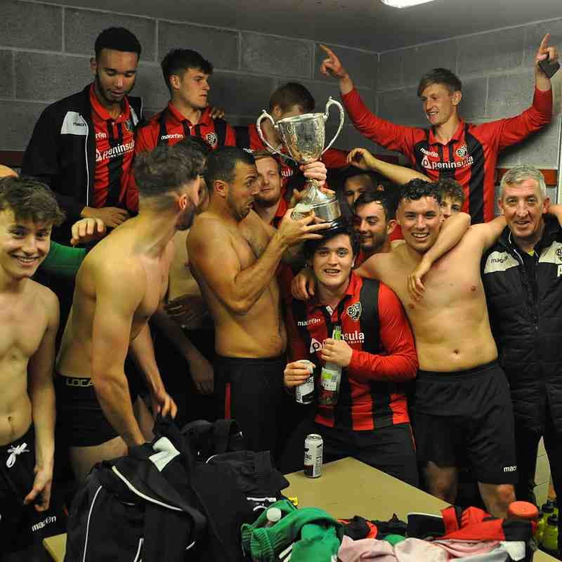 NWCFA Junior Cup celebrations