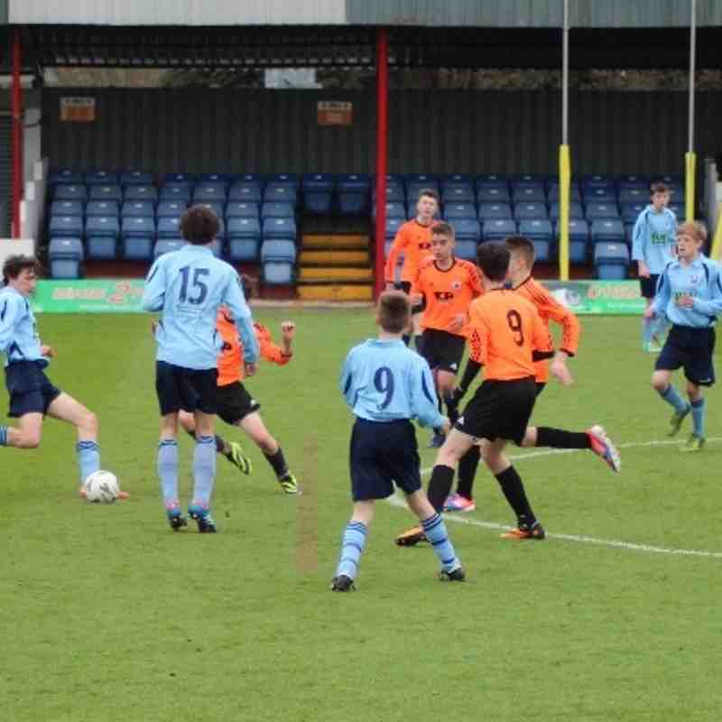 12.04.14 Under 14s Newark Town Warriors v Manor FC (Ben Cup Final @ Alfreton Town)