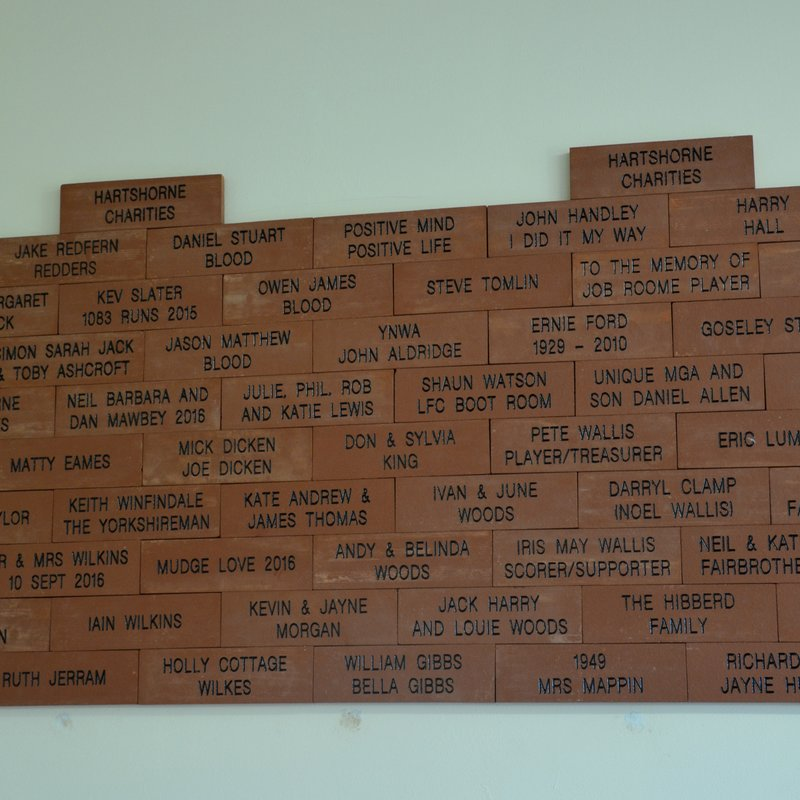 Legacy Bricks proudly on display - read here to be part of our club's legacy!
