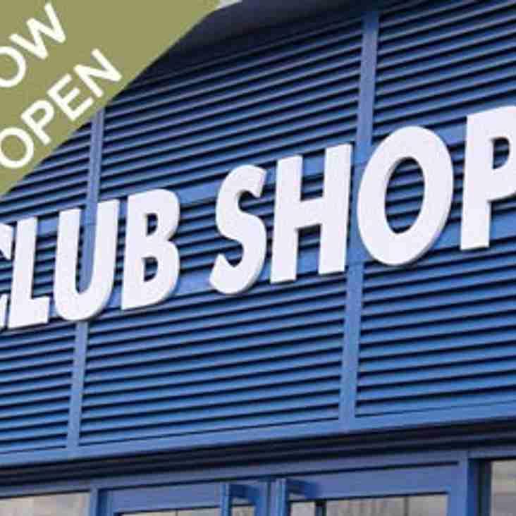 Club Shop Now OPEN!