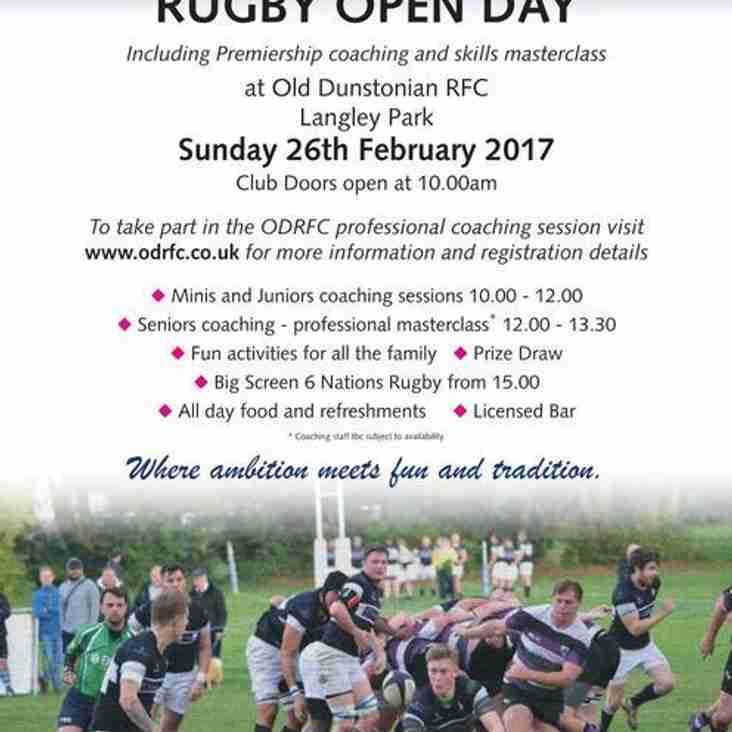 ODRFC Open Day Announcement