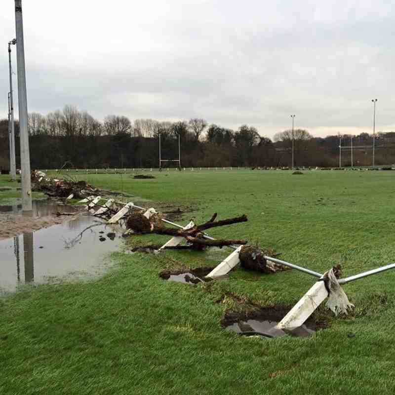 Club devastation from the floods