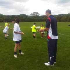 Young Chargers attend England training session