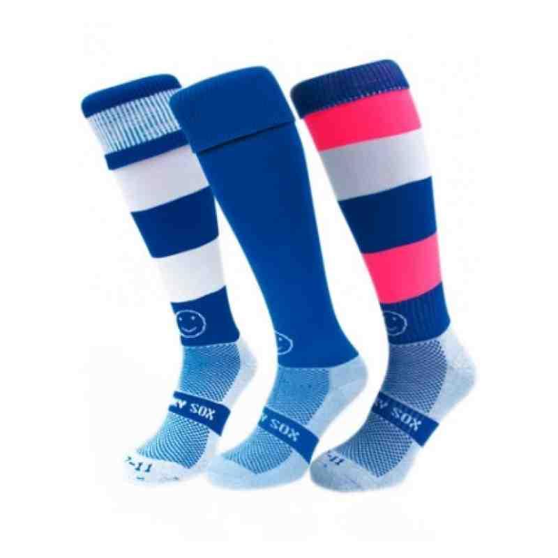 Whacky Blue 3-pack Socks - Pitchero Marketplace