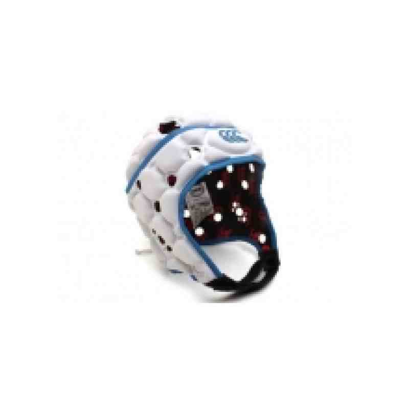 Canterbury Ventilator Headguard - White/ Madison Blue (Kids)