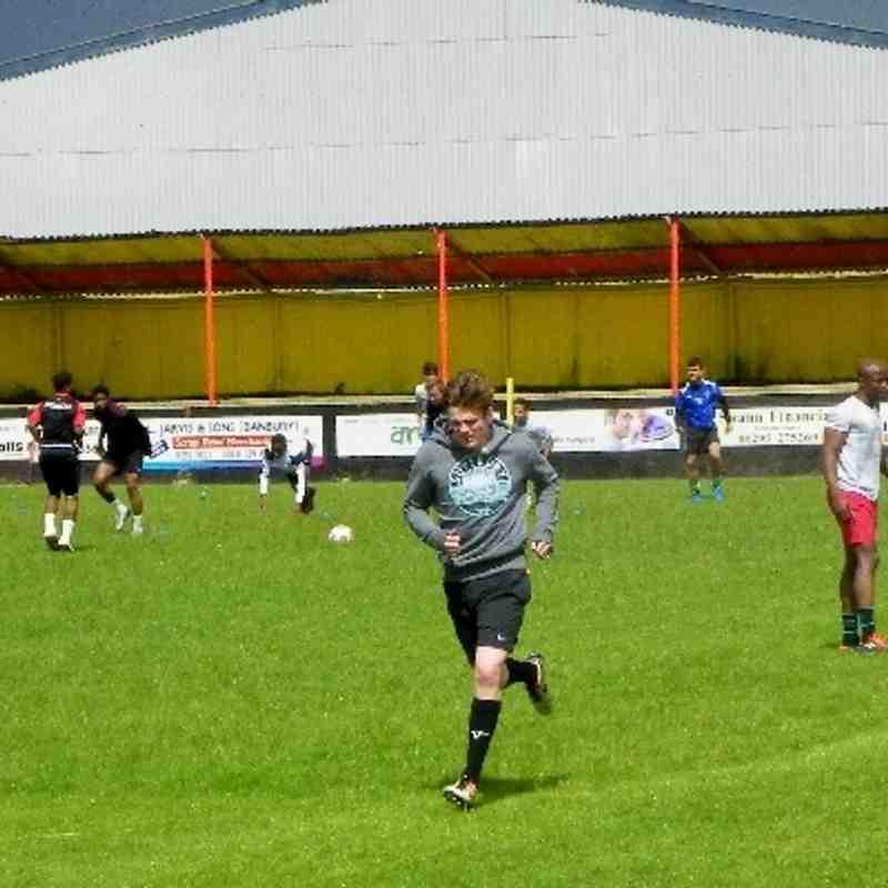 Training at Spencer Stadium 15th June 2013