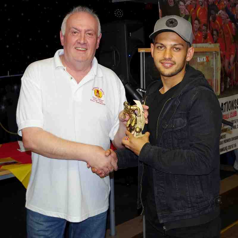 Puritans Radio Player of the Year presented to Zac McEachran by Station Manager Stewart Green