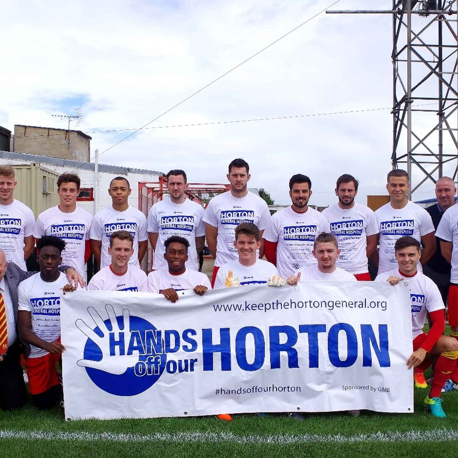 "Banbury United supporting the ""Hands off our Horton"" campaign"