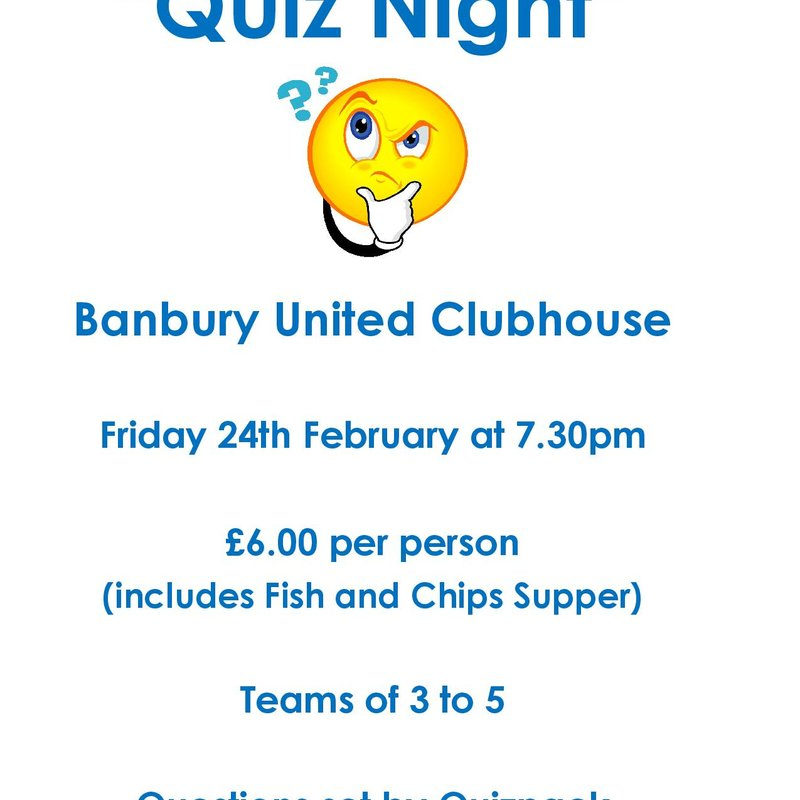 Quiz Night - Friday 24th February