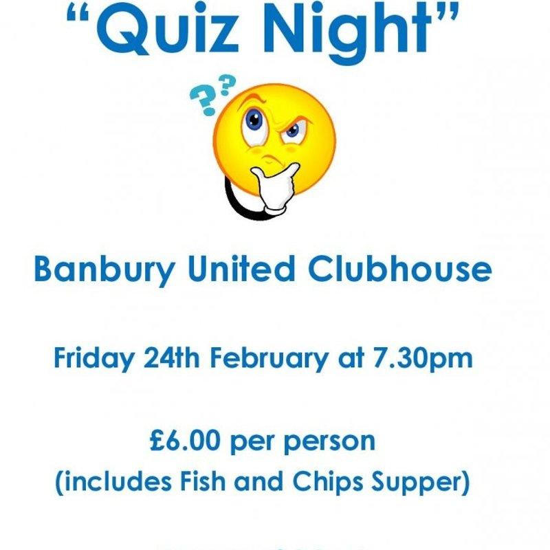 Quiz Night - Friday 24th February