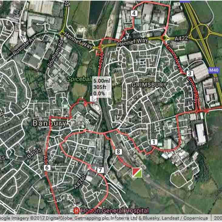 Walkathon 1 July - The Route
