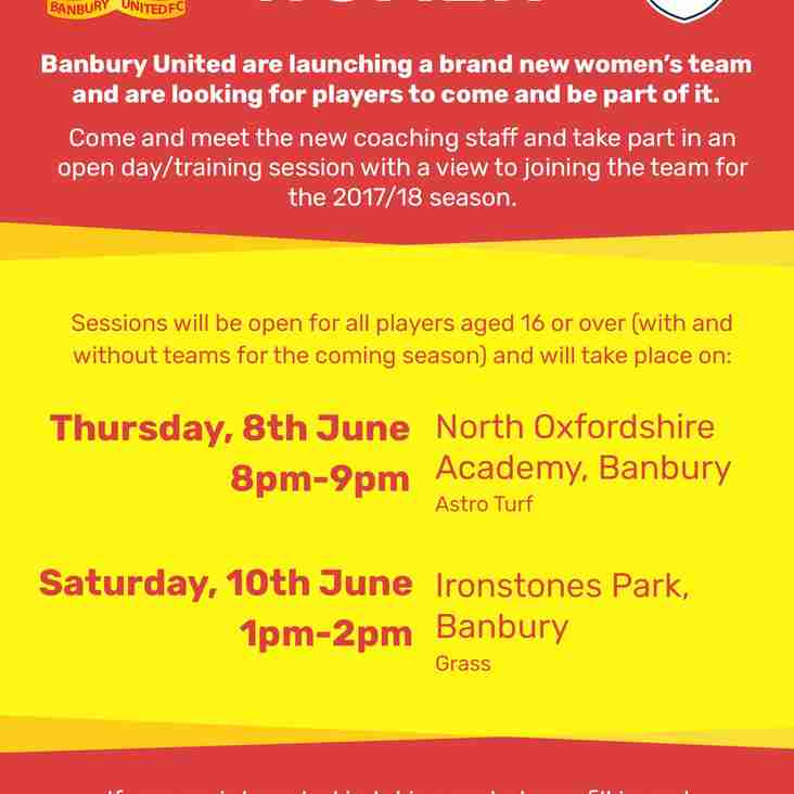 Dates for the Women's Open Training Sessions