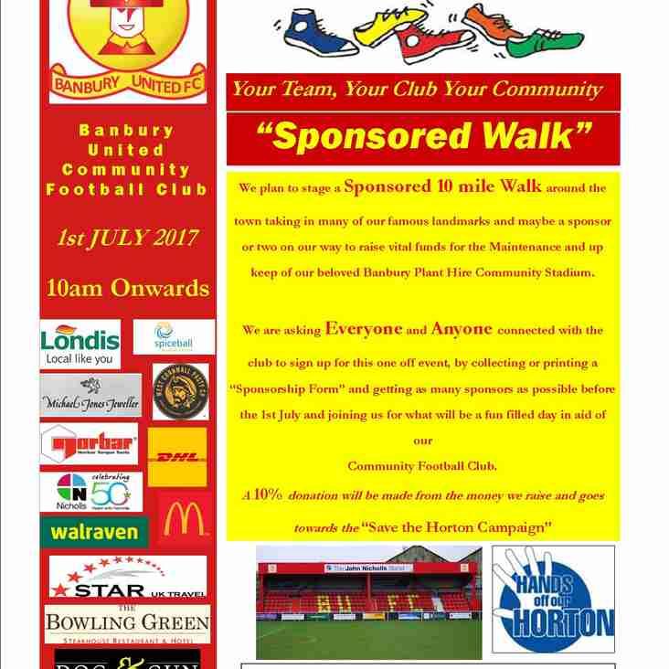 Sponsored Walkathon Poster