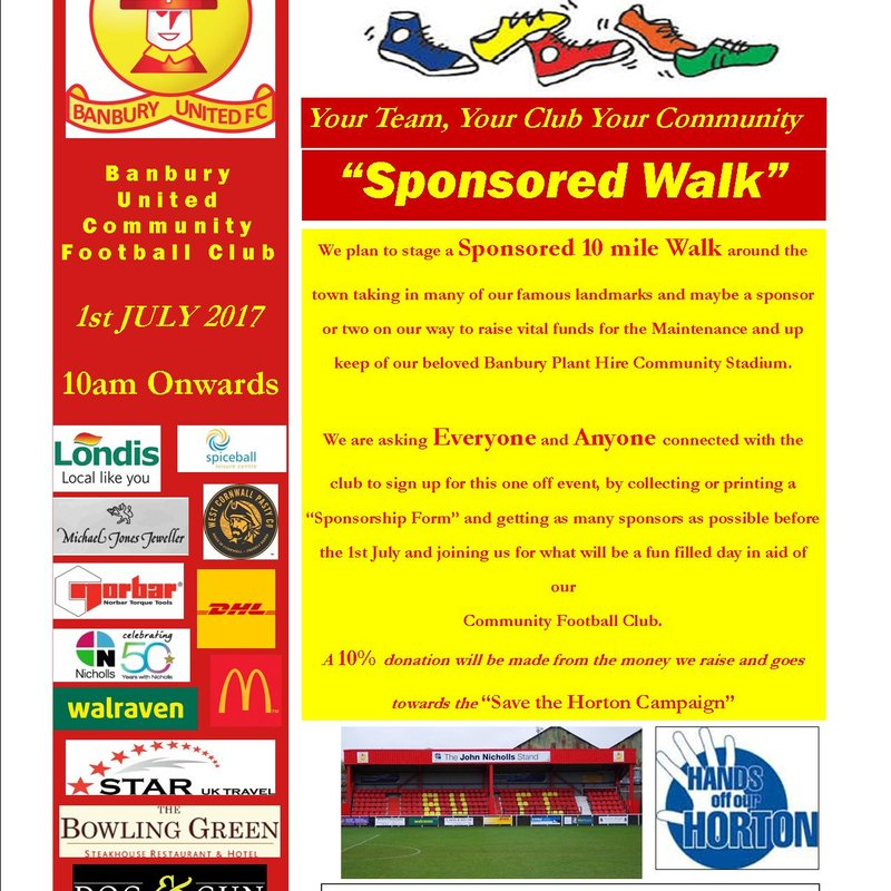 Sponsored Walkathon Poster