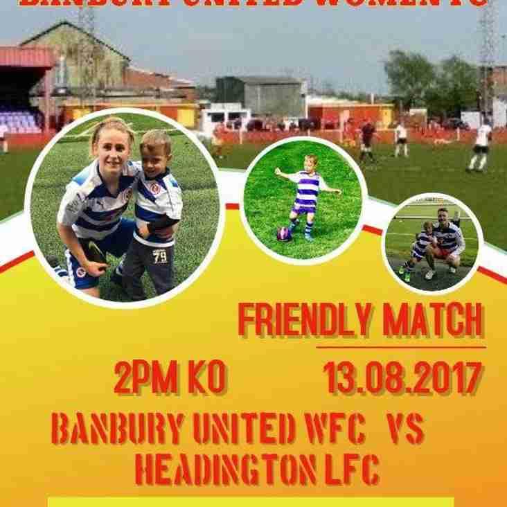 Banbury United Women's Team Pre-Season Friendlies