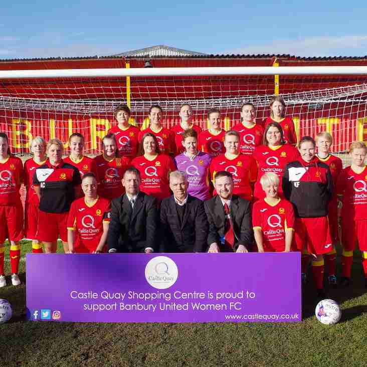 Castle Quay support Women's Team as Home Shirt Sponsor