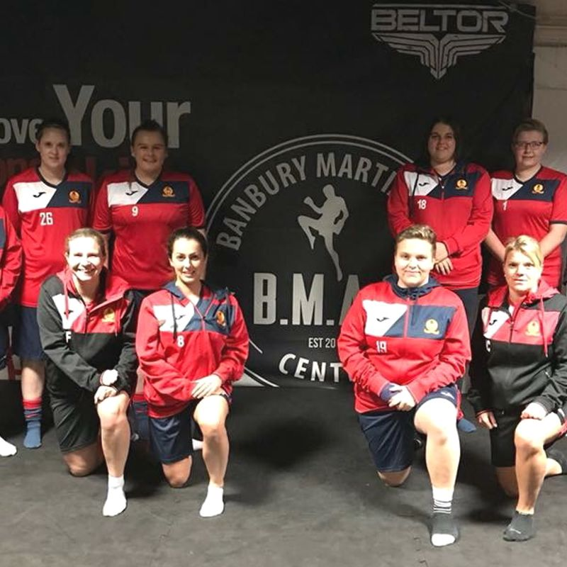 Banbury United Women working with Banbury Martial Arts Centre